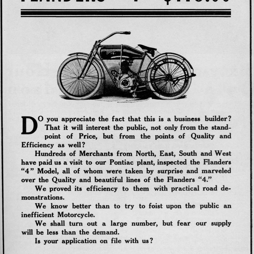 motorcycle  FLANDERS     1912