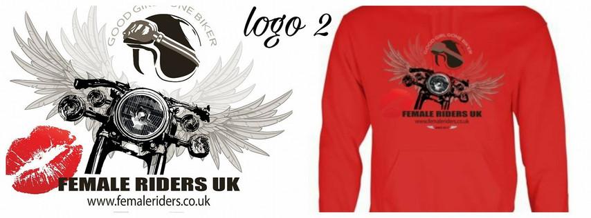 Female Riders UK logo 2 hoodie