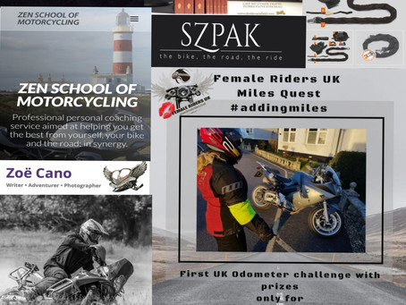 First edition Female Riders UK Miles Quest- Odometer Challenge