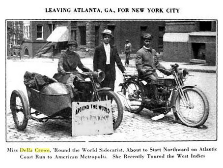 Della Crewe – 5,378 mile trip in 1914-Where She Goes Trouble Follows