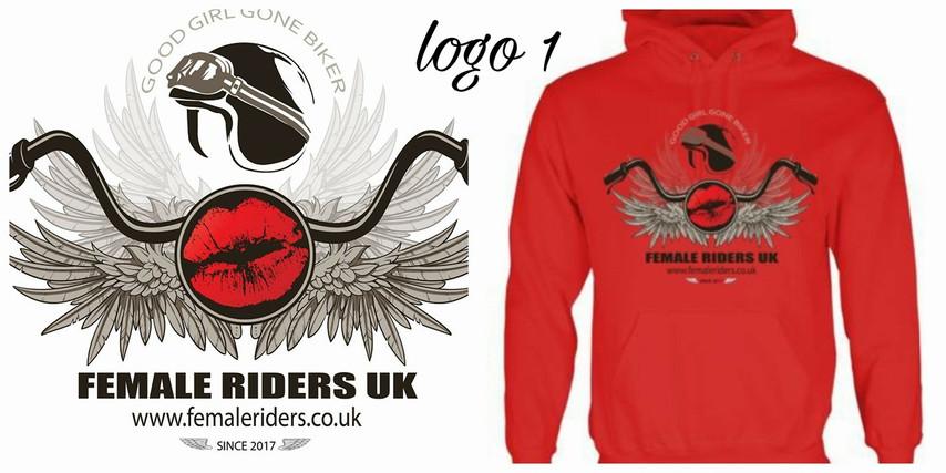Female Riders UK logo 1 hoodie