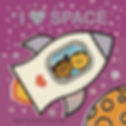 I Love Space board book by Allison Wortche and Steve Mack