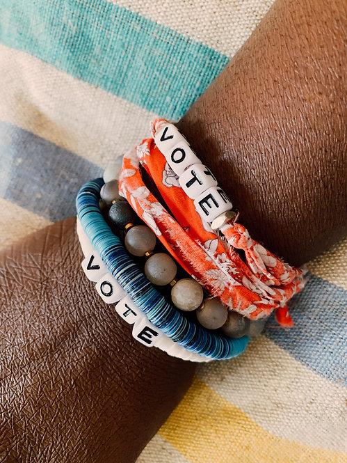 Liberty Print Wrap Vote Bracelet