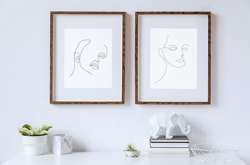 Feminine Face | Single Line Drawing