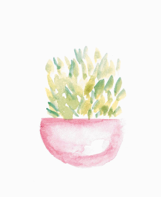 Potted Plants   Watercolor Prints