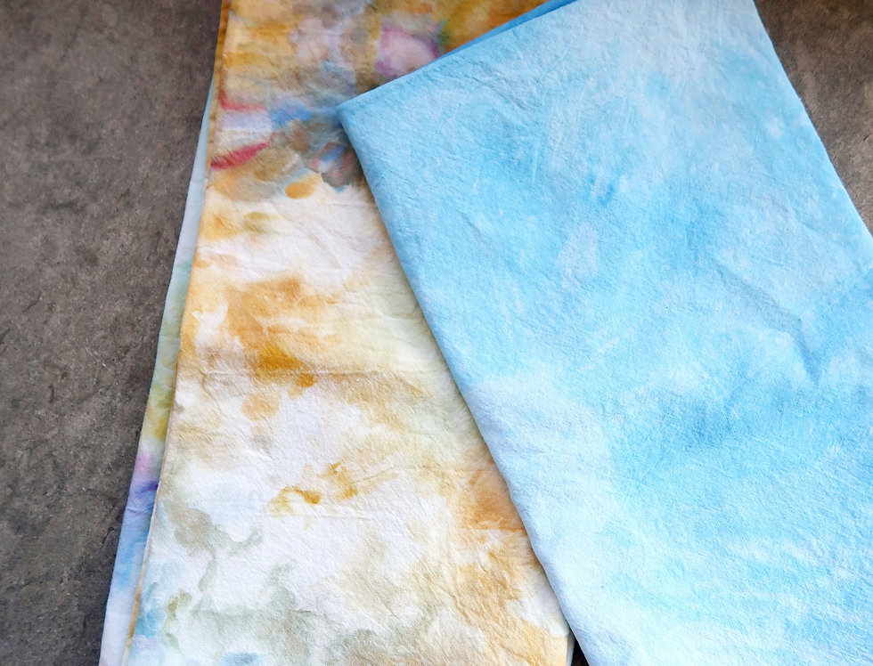 Hand Dyed Tea Towels