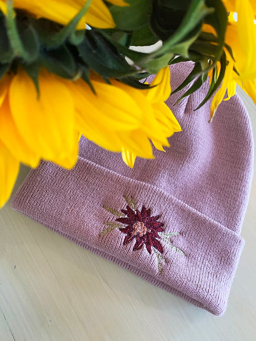 Embroidered Knit Beanie