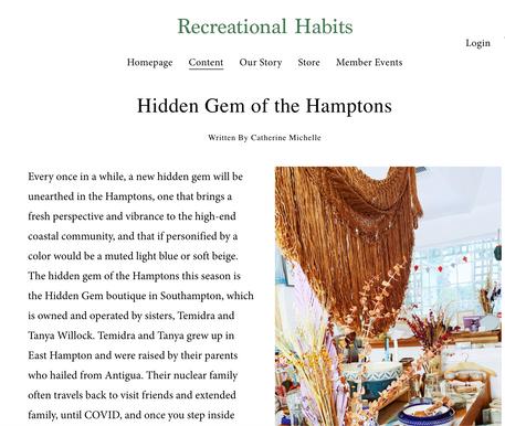 Recreational Habits | April 2021