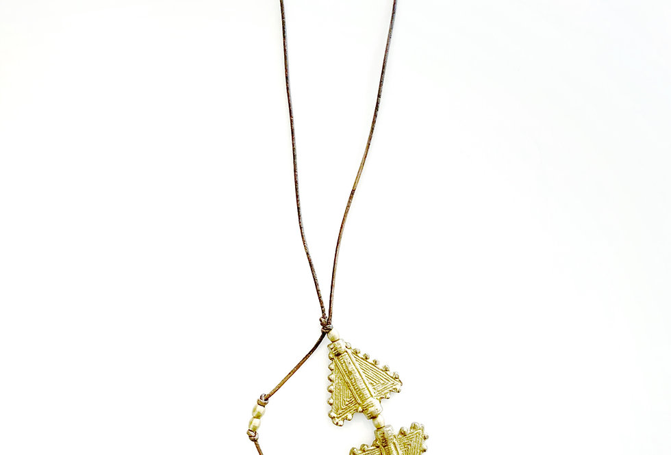 Double Arrow Head Necklace