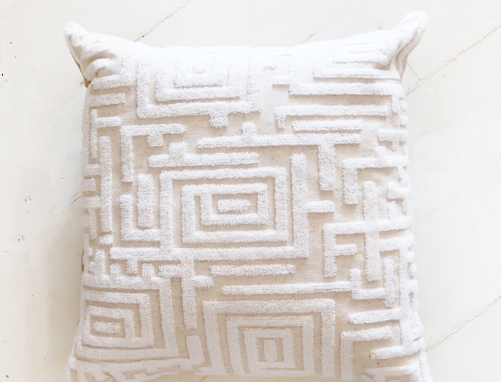 Maze Embroidered Pillow