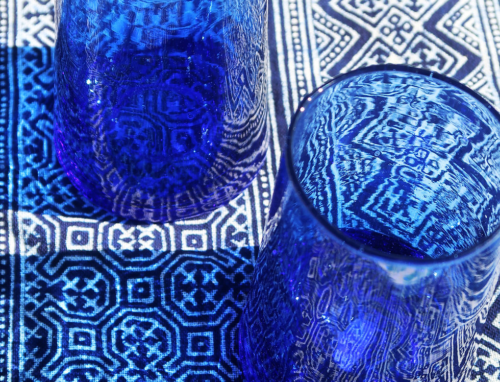 Cone Glasses   Blue   Set of 2