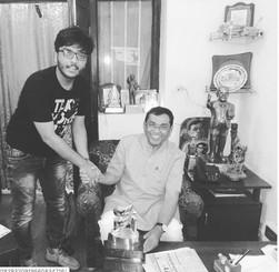 Vipra Goyal with member of Parliament