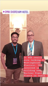 Vipra Goyal with Westinghouse in Nuclear Energy Assembly