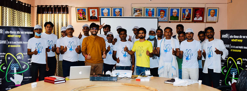 Vipra Goyal with his Akshvi Aware Team