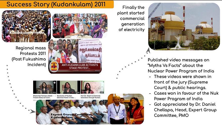 Dr. Neelam Goyal - Bharat kee Parmanu Saheli in Kudankulam Nuclear Power Plant - 2011