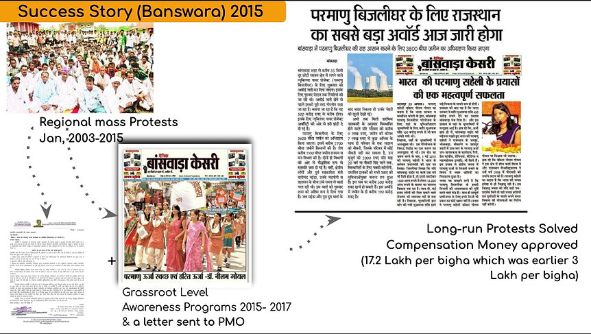 Dr. Neelam Goyal - Bharat kee Parmanu Saheli in Banswara Nuclear Power Plant - Rajasthan - 2015