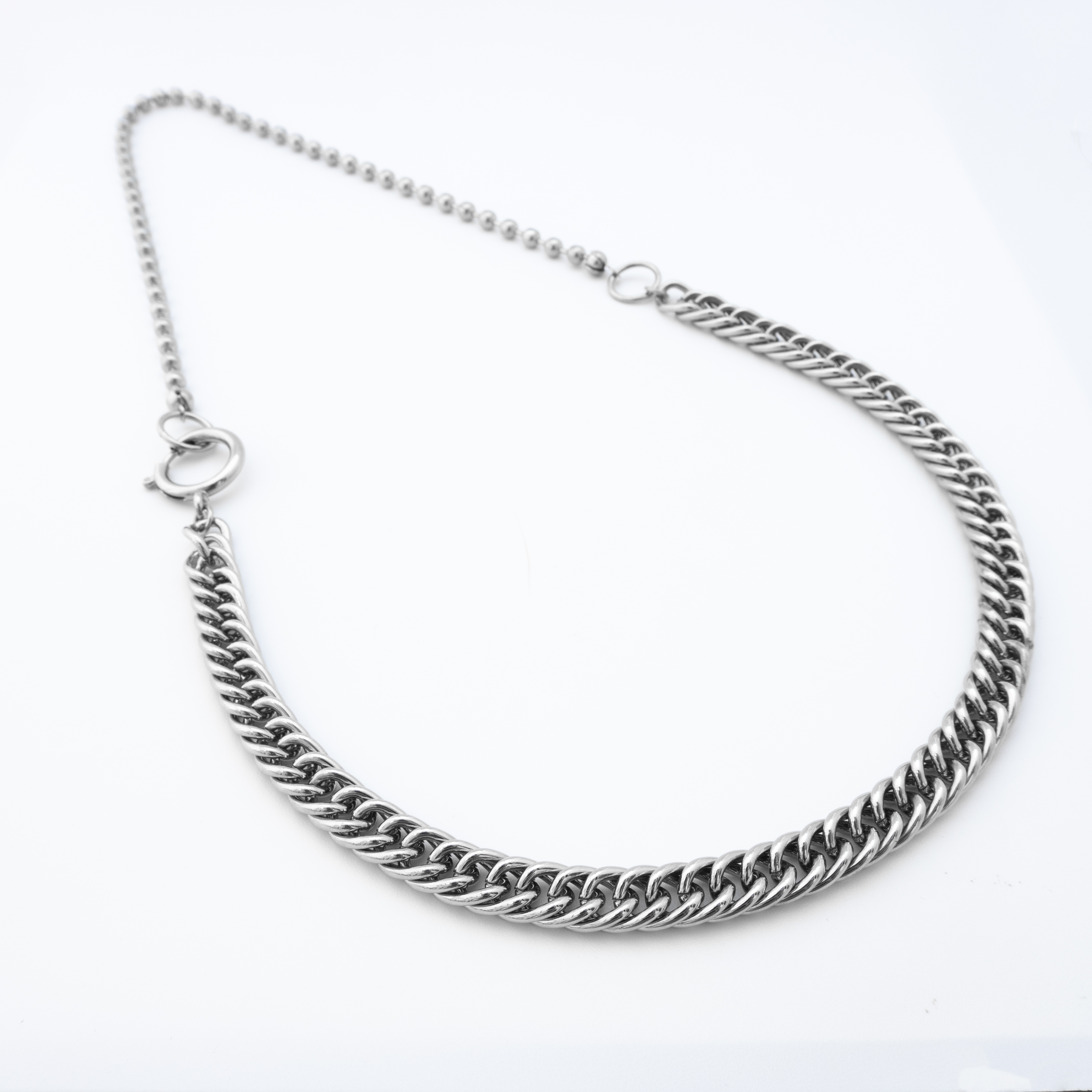two style silver chain necklace 1