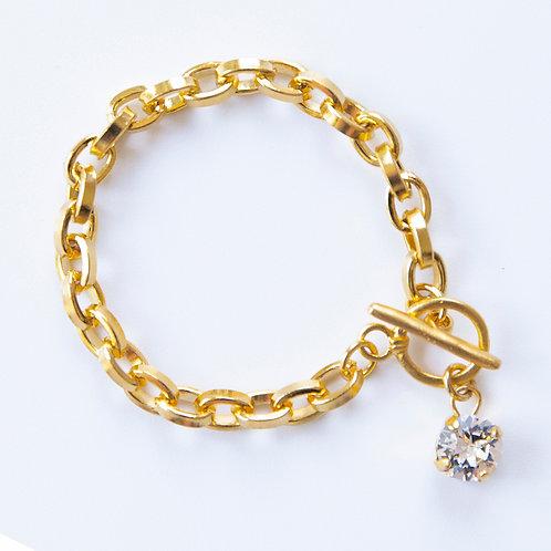 צמיד רוני - צמיד זהב עם קריסטל