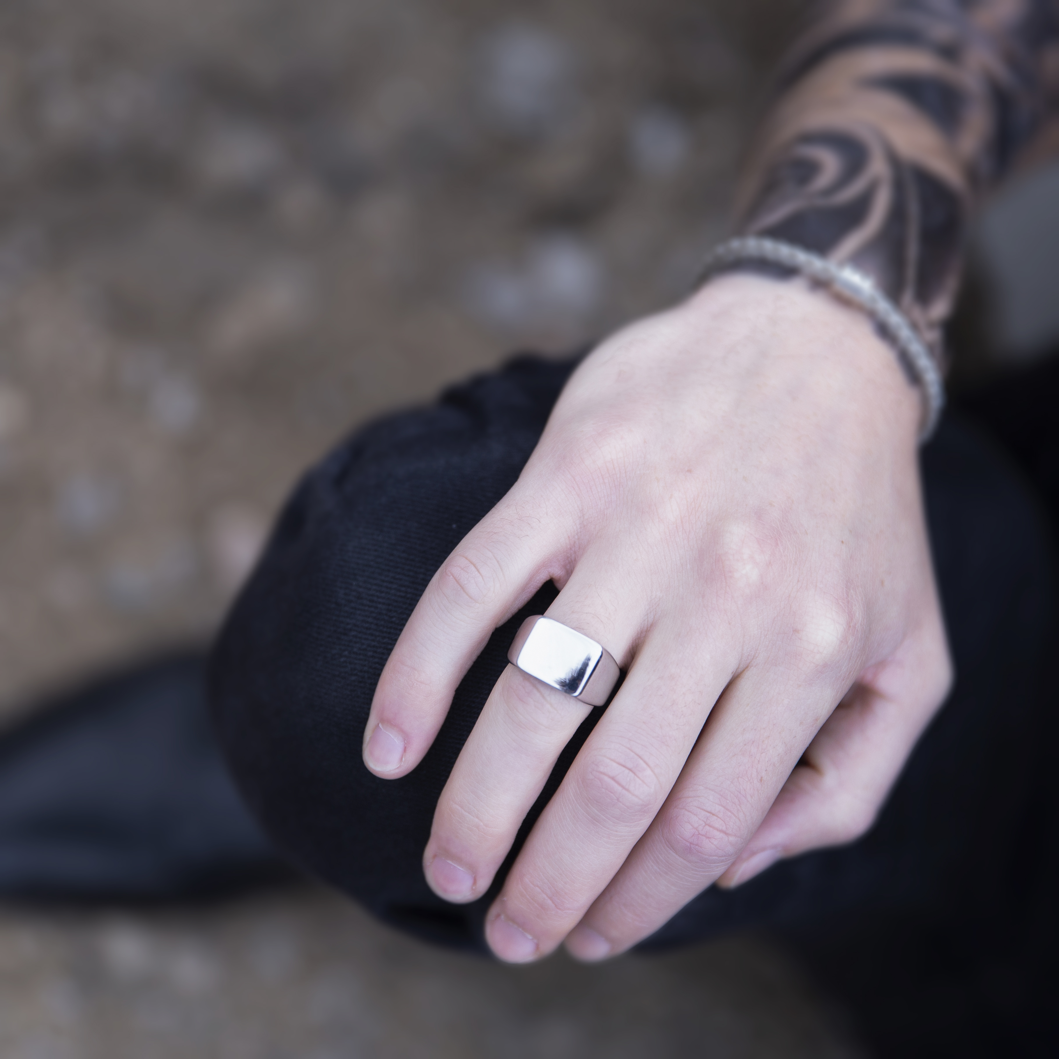 stainless steal signet ring 3