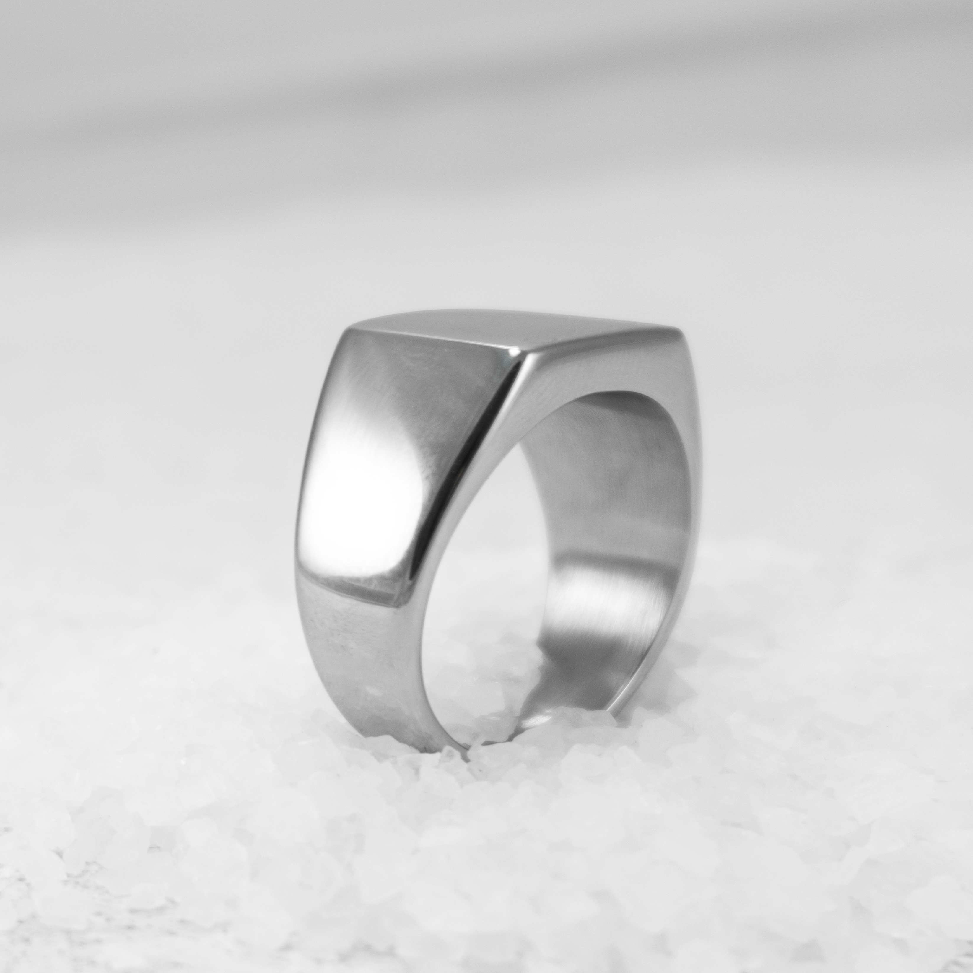 stainless steal signet ring 1a