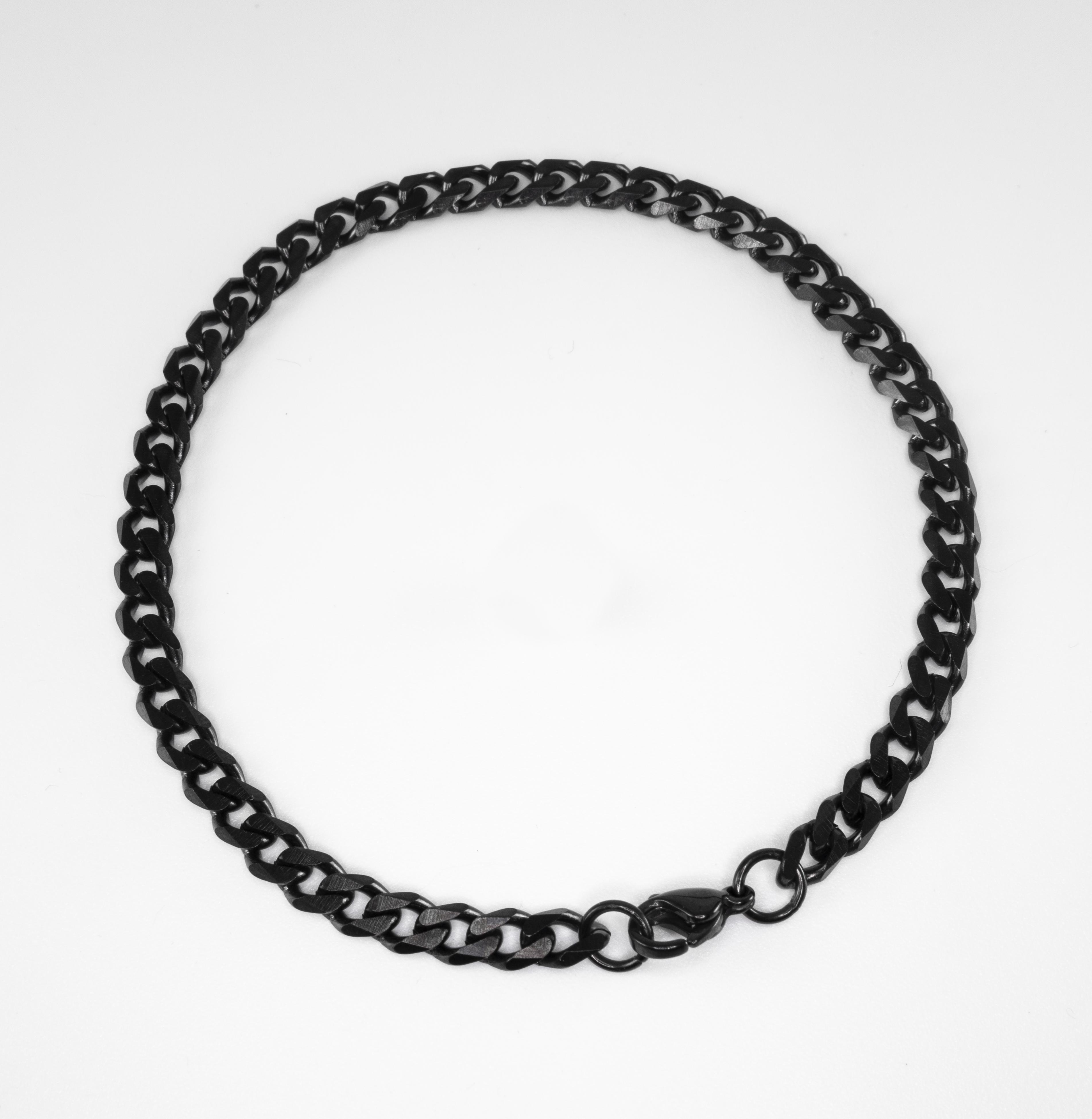 black Staeinless Steel pencher bracelet1