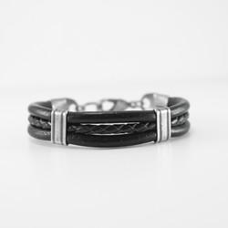 black 3string cuff bracelet 1