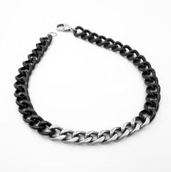 Black & silver big link gormet choker 1.