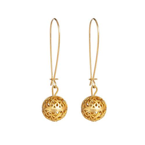 עגילי זהב ארוכים, עגילי זהב, עגילים מזהב, עגילים מתנה, עגילים מיוחדים