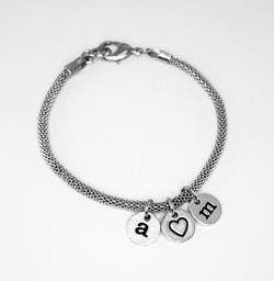 chain w leatter bead bracelet 2