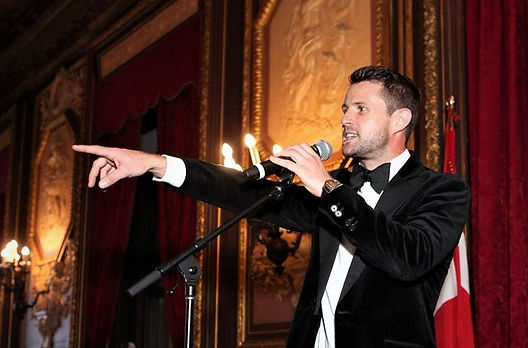 Harry Santa-Olalla, auctioneer at the Order of Malta Gala, The Metropolitan Club, New York