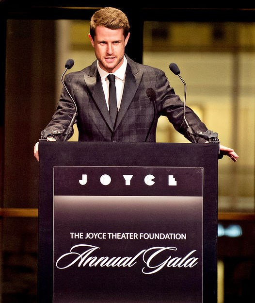 Harry Santa-Olalla, auctioneer at The Joyce Theater Gala at The Lincoln Center, New York