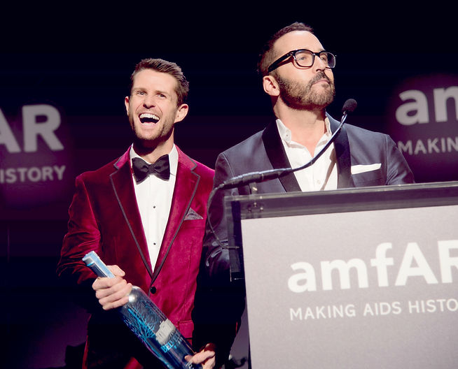 Harry Santa-Olalla, auctioneer at the amfAR Gala in New York