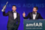 Harry Santa-Olalla, auctioneer at the amfAR Gala in Los Angeles