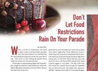 Don't Let Food Restrictions Rain on Your Parade (As seen in BC the MAG)