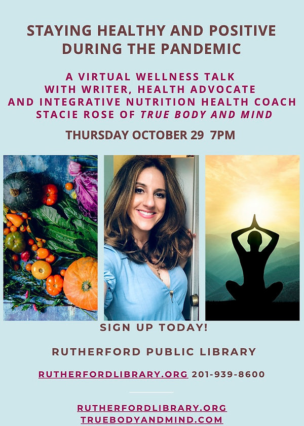 WELLNESS TALK FLYER FOR Stacie Rose TRUE