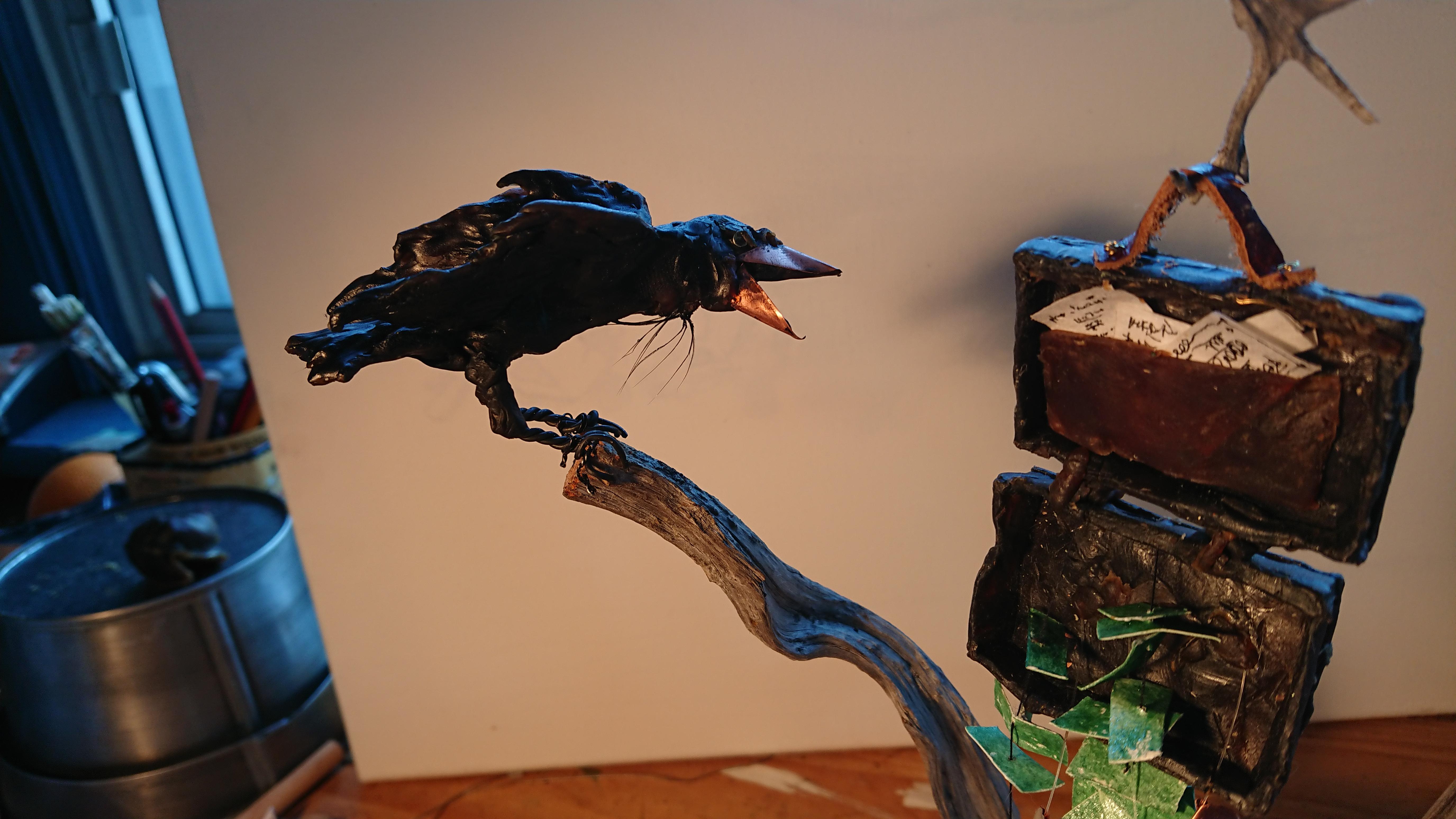 Crow & briefcase