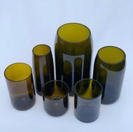 Chestnut glasses and vases