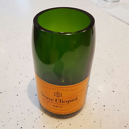 Veuve Champagne Bottle Vase
