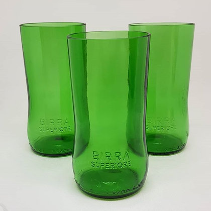 Peroni Beer Bottles Glasses (x2)