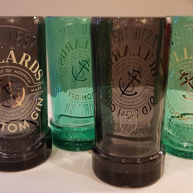 Bullards gin bottles repurposed