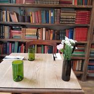 Derssert vase and fern hi balls