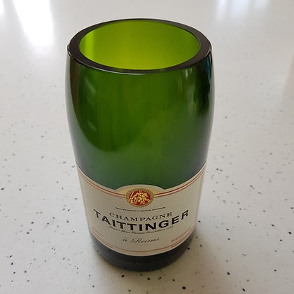 Tattinger Brut bottle vase