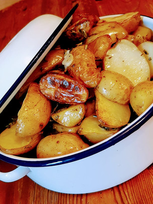 Garlic and Rosemary Potatoes
