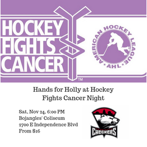 Hands for Holly Hockey Fights Cancer Night