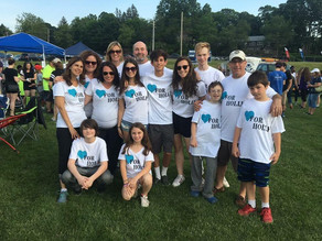 """""""Hearts For Holly"""" Team Raises Funds for American Cancer Society by Walking Through the Ni"""