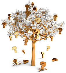 gold tree with question marks - faqs - australian essences