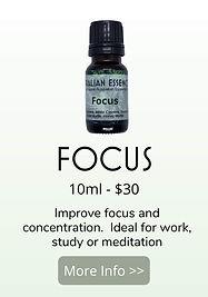 focus essential oil blend - australian essences