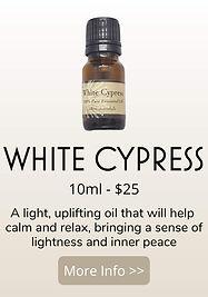 white cypress essential oil - australian essences