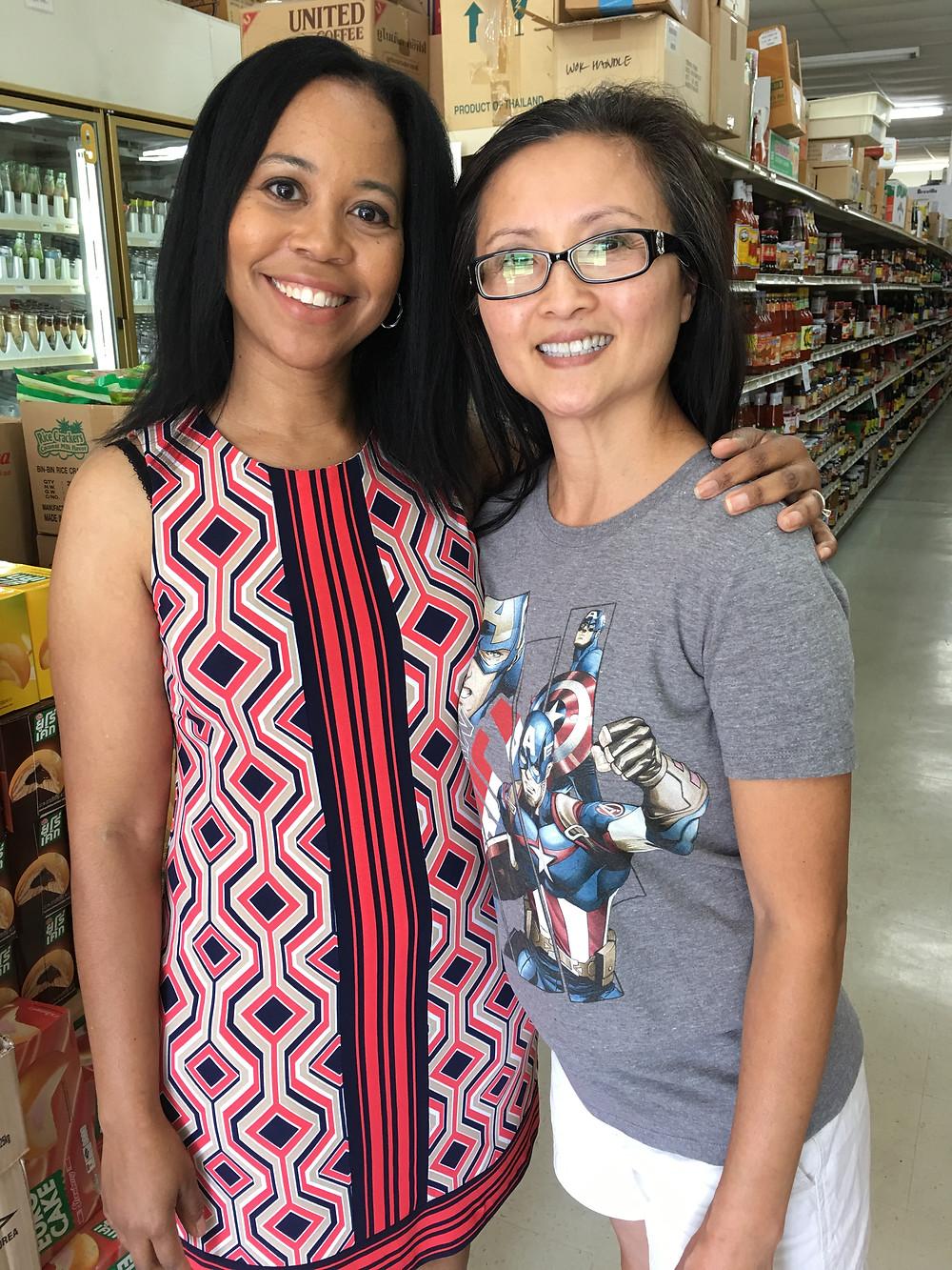 Lifelong friends spending time together at InterAsian Market & Deli