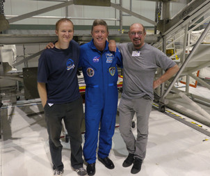 with Ian Anderson & astronaut Mike Fossum